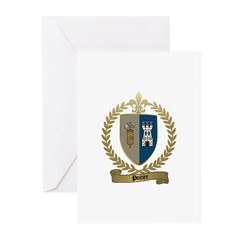 POITIER Family Crest Greeting Cards (Pk of 10)
