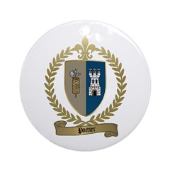 POITIER Family Crest Ornament (Round)