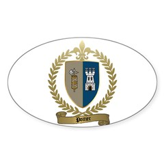 POITIER Family Crest Oval Decal