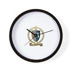 POITIER Family Crest Wall Clock