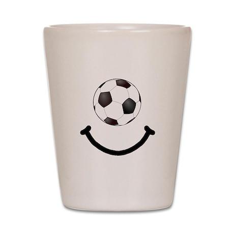 Soccer Smile Shot Glass