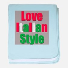 Love Italian Style baby blanket