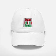 Love Italian Style Baseball Baseball Cap