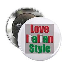 """Love Italian Style 2.25"""" Button"""