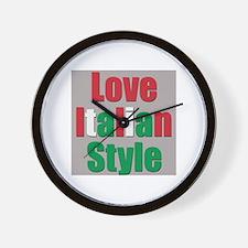 Love Italian Style Wall Clock