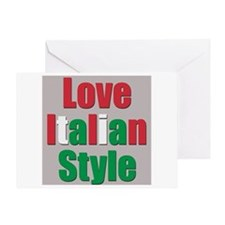 Love Italian Style Greeting Card