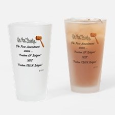 Freedom Of Religion Drinking Glass