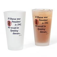 Speaking German Drinking Glass