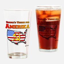 Amerika Drinking Glass