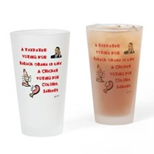 Taxpayer Chicken Drinking Glass