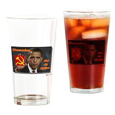 Obamunism not an option Drinking Glass