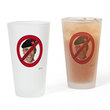 Stop Obamunism Now Drinking Glass