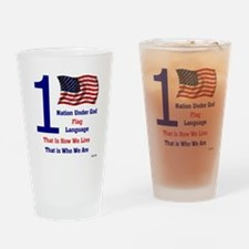 One Nation Under God Drinking Glass