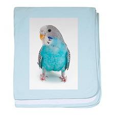 Blue Parakeet baby blanket