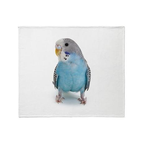 Blue Parakeet Throw Blanket