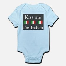 Kiss Me I'm Italian Infant Bodysuit