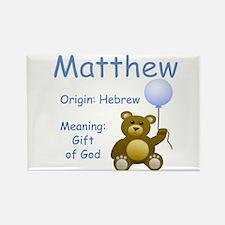 Boy Names Rectangle Magnet