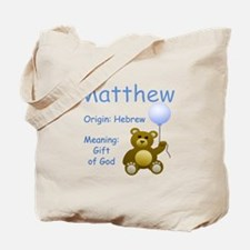 Boy Names Tote Bag