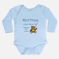 Boy Names Long Sleeve Infant Bodysuit