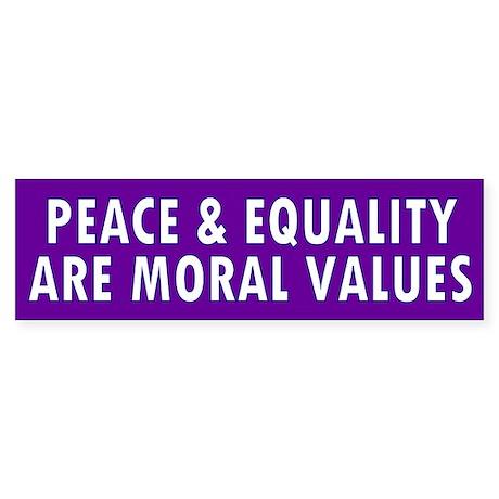 peace equality... Bumper Sticker