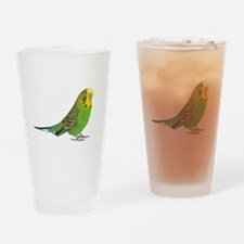 Green Parakeet Drinking Glass
