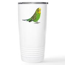 Green Parakeet Ceramic Travel Mug