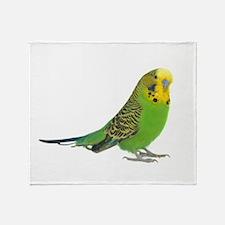 Green Parakeet Throw Blanket