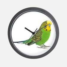 Green Parakeet Wall Clock