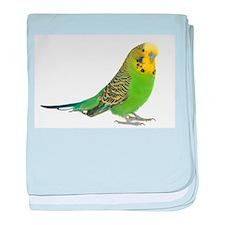 Green Parakeet baby blanket