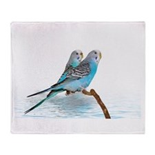 Parakeet Friends Throw Blanket