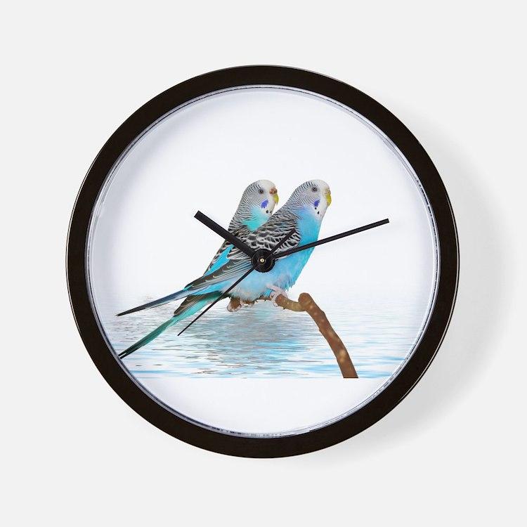 Parakeet Friends Wall Clock