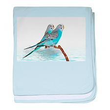 Parakeet Friends baby blanket
