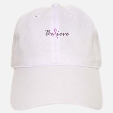 Believe Breast Cancer Baseball Baseball Cap