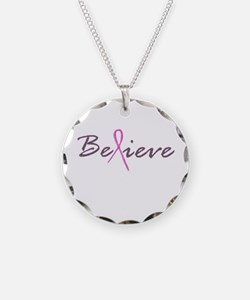 Believe Breast Cancer Necklace