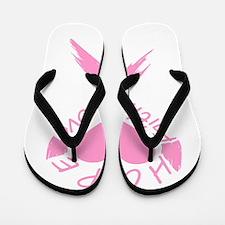Faith Hope Love Heart Flip Flops