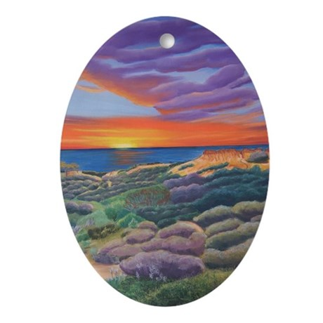 Butte-eful Sunset Ornament (Oval)