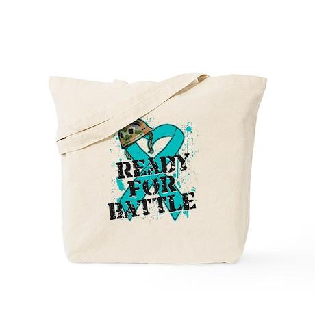 Battle Ovarian Cancer Tote Bag