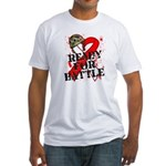 Battle Oral Cancer Fitted T-Shirt