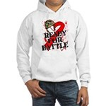 Battle Oral Cancer Hooded Sweatshirt