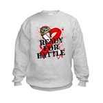 Battle Oral Cancer Kids Sweatshirt
