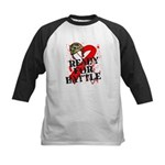 Battle Oral Cancer Kids Baseball Jersey
