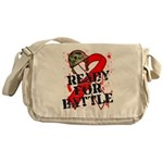 Battle Oral Cancer Messenger Bag