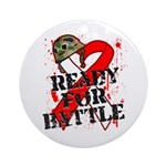Battle Oral Cancer Ornament (Round)