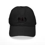 Zombie Toilets Sign Black Cap