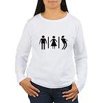 Zombie Toilets Sign Women's Long Sleeve T-Shirt