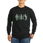 Zombie Toilets Sign Long Sleeve Dark T-Shirt