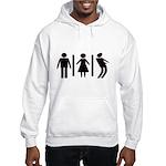 Zombie Toilets Sign Hooded Sweatshirt