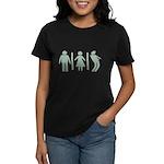 Zombie Toilets Sign Women's Dark T-Shirt