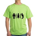 Zombie Toilets Sign Green T-Shirt