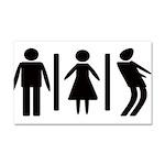 Zombie Toilets Sign Car Magnet 20 x 12